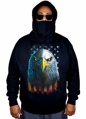 Mens Hoodies Native American Symbols Eagle Full Print Sweatshirt Pullover Jackets Hooded