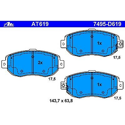 Ate AT1394 D1394 PremiumOne Disc Brake Pads