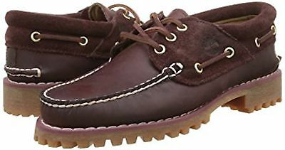 Men's Timberland A163Y Classic 3 -Eye Burgundy Leather Boat Shoes UK 6.5 - 13.5