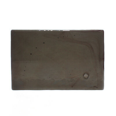 Vintage Pewter Grey Dalle-De-Verre Architectural Window Glass Slab 290x200x20mm