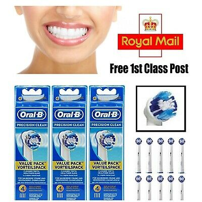 Braun Oral B Precision Clean replacement Toothbrush Heads