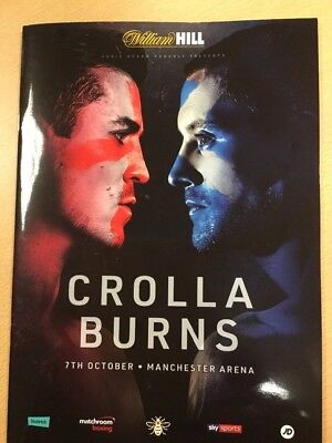 boxing programmes. ANTHONY  CROLLA  v  RICKY BURNS
