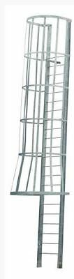 Aluminum Access Ladder With Cage, AL-CG-15