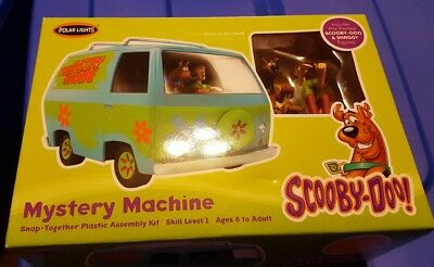 2011 Nib Scooby-Doo! Mystery Machine Snap Together Plastic Assembly Kit Pol814