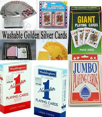 Waterproof Plastic Playing Cards Poker Silver Card Black Foil Golden card gift
