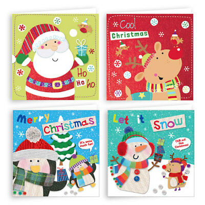 Pack of 20 Traditional Christmas Cards 2 Designs in one Box Good for Children