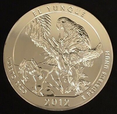 2012 El Yunque ATB America The Beautiful 5 Oz .999 Fine Silver Coin! RF10