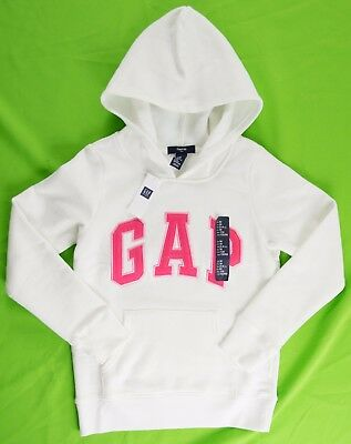 NWT Girls GAP Kids Logo Hoodie Sweatshirt New Off White - 194161