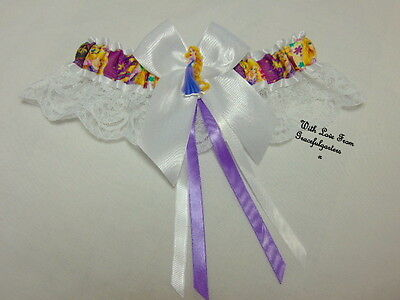 Rapunzel Disney  Lace Bridal Wedding Garter