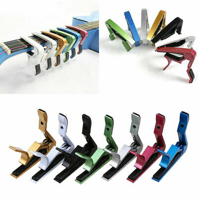 Quick Change Tune Clamp Key Trigger Capo for Acoustic Electric Guitar 8 x 8cm