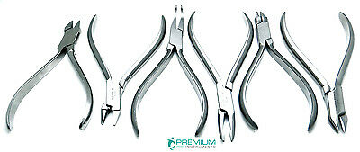 Dental Orthodontic Pliers Premium Stainless Steel Instruments Set of 6