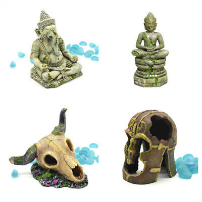 Fish Tank Decor Ganesh Buddha Statue Aquarium Resin Ornament Accessories Vintage