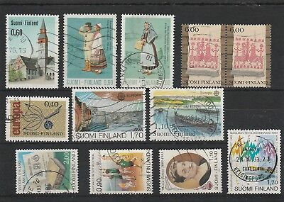 Finland - Assorted Used Stamps.