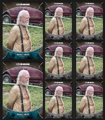 HERSHEL GREENE-TRAGEDIES-2x BLUE+6x GRAY-TOPPS WALKING DEAD CARD TRADER DIGITAL
