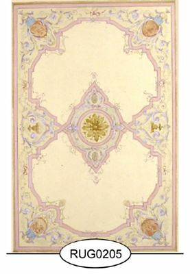 Dollhouse Miniature 1:12 Small French Aubusson Rug (205S)