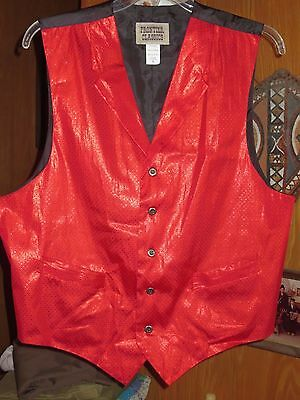 FRONTIER CLASSICS Red Fully Lined Polyester Re-Enactment Vest Men's XL