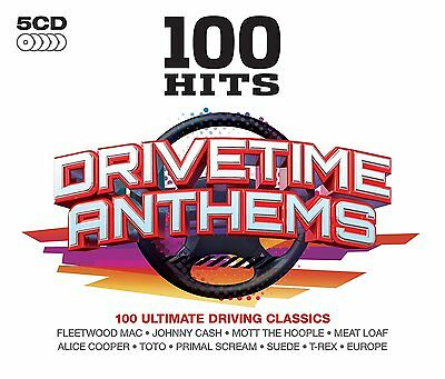 100 Hits Drive Time Music Collection New 5 Cd 100 Songs All Original Artists