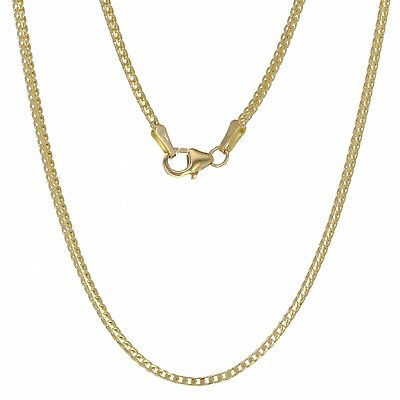 """14k Yellow Gold Franco Chain Necklace 20"""" 1.5mm 5.9 grams"""