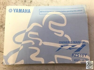 Yamaha Fzs10Y Owner's Manual