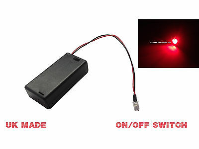 RED FLASHING LED LIGHT DUMMY SECURITY CAR ALARM Motorbike BELL BOX Switched