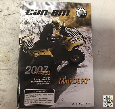 2007 Can-Am Mini Ds90 Operator's Guide
