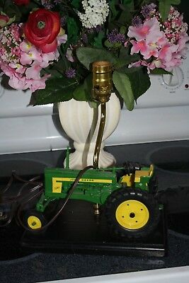 John Deere Tractor TABLE Lamp Farm Lamp Collectible For Adults And Kids