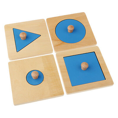 Kids Montessori Educational Learning Toy Set Geometry Seperate Puzzles Match