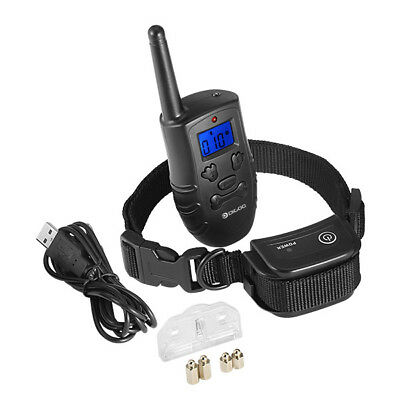 Rechargeable Trainer Waterproof Stop Barking Collars Remote Dog Training Collar