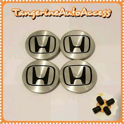 "4 PCS 69 mm OR 2.75"" WHEEL BADGE CENTER CAPS FOR HONDA ACCORD CIVIC PILOT"