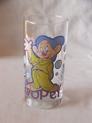 Vintage IXL Collector Glass ~ Dopey Snow White ~ Disney Limited Edition #3 of 8