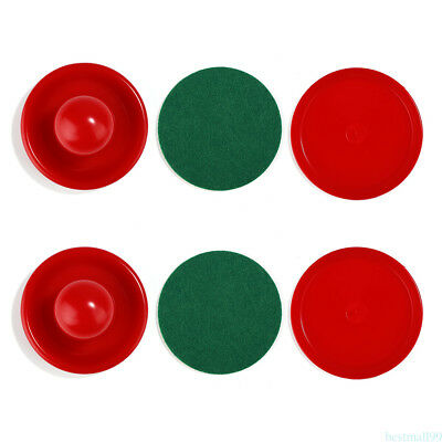 High Quality Air Hockey Table Goalies With Puck Felt Pusher Mallet Grip Red m99