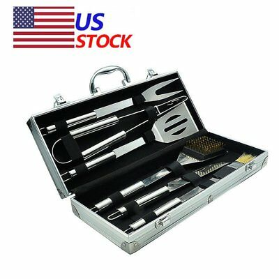 BBQ Barbecue Tool Set Grill Grilling Tools Accessory Stainless Steel 6 Pieces