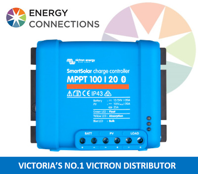 Victron SmartSolar MPPT Charge Controller 100/20 12/24V BUILT IN BLUETOOTH