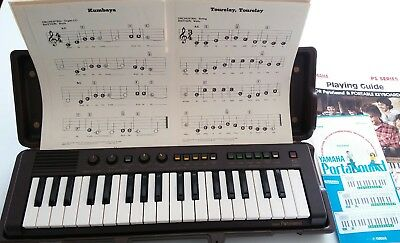 Vintage Yamaha PortaSound PS-2 in good working order w/case & guide books