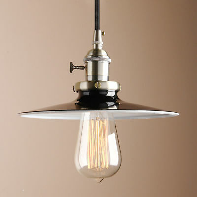 Vintage French Metal Industrial Ceiling Pendant Light Hanging Lamp 4 Colors