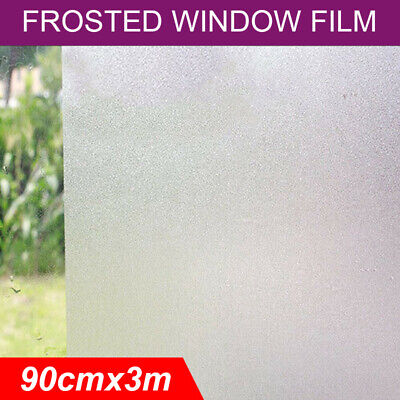 Frosted Frosting Window Glass Privacy Film Sand Blast Clear Decorative 90cm x 3m