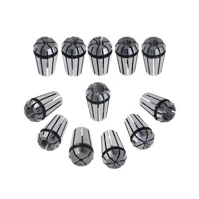 12Pcs ER16 Spring Collet Set For CNC Milling Lathe Tool Engraving Machine
