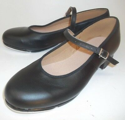 Bloch Women's US 8 Black Leather buckle maryjane Tap Dance Shoes techno tap NEW