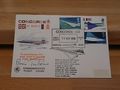 Concorde 002 G-BSST first mach 2 flight cover - 12 Nov 1970 * signed Trubshaw *