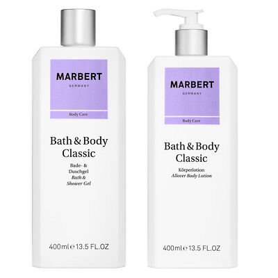Marbert Bath & Body Classic Set Duschgel + Körperlotion a 400ml