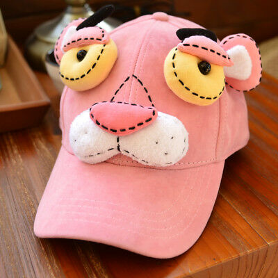 Pink Panther Stuffed Plush Doll Toy Leopard  3D Cap Travel Baseball Hat Cosplay