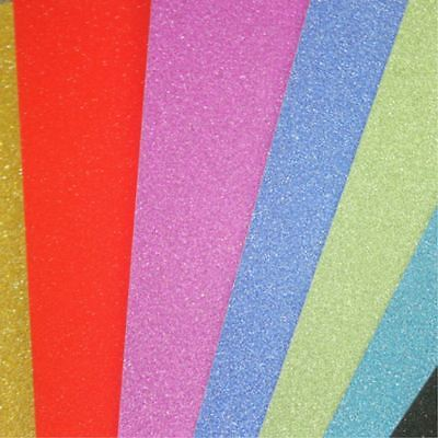 10PC DIY Adhesive Glitter Scrapbooking Paper Vinyl Sticker Art Sheets Craft Tool