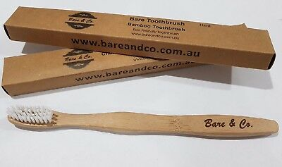 Bare & Co. Adult Bamboo Toothbrush - Hard Bristle Eco Friendly environmental