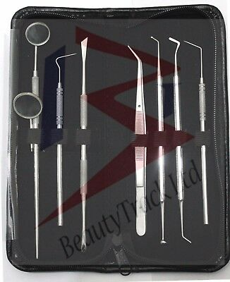 Pro Set Dental Dentist Scaler Tweezers Instruments pick tool kit Teeth Whitening