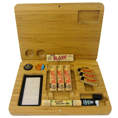 Smokers Starter Raw Rolling Tray Kit Set Papers Filter