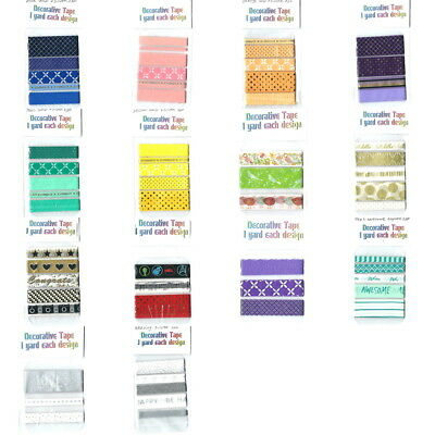 SAMPLES of Scrapbooking Planner Decorative Washi Adhesive Paper Tape -You Choose