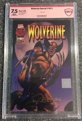 Wolverine #102.5 (1996) CBCS 7.5 - not CGC Signed By BORIS VALLEJO