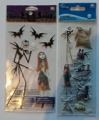 Rare Disney Nightmare before Christmas Jolees  Jack Stickers craft scrapbook NBC