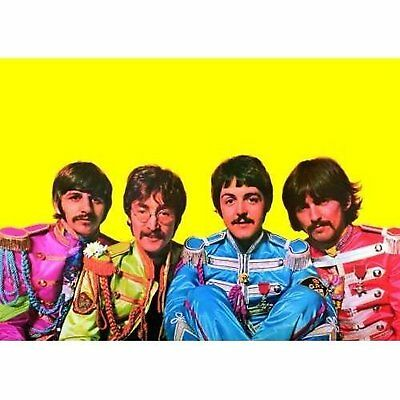 The Beatles Sgt Peppers Colourful Band Photo Retro Picture Postcard Official