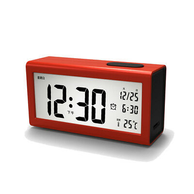 Digital Backlight LCD Display Desk Alarm Clock Snooze Temperature Calendar